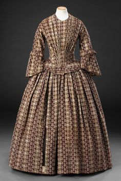 Day dress in unstated material, British, late 1840's. The John Bright Collection, nr. ?