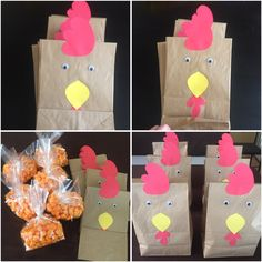 Rooster Party Favor Bags