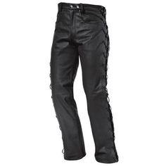 Pantalon Held Mujer Piel Sullivan. Pantalón de cuero tipo jeans. Cuero flexible. Forro 3/4, hasta la rodilla (100% poliéster). 4 tipos de bolsillos exteriores. Frontal liso. Cordones de ajuste individuales. Tallas Mujer: 36, 38, 40, 42, 44, D46.