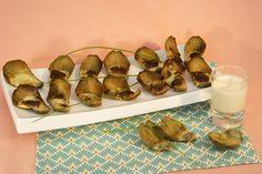 Tapas de feuilles d'artichauts au Roquefort