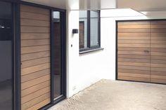 Exterior Design, Bungalow, Garage Doors, Sweet Home, New Homes, Loft, Facade, Architecture, Villa