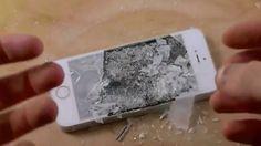 iPhone 5S Bliver testet med flydende nitrogen