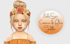 Nolan-Sims Couronne de Fleurs Toddler Version at Simiracle • Sims 4 Updates