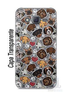 Capa Capinha Samsung J5 Cachorros - SmartCases - Acessórios para celulares e tablets :)