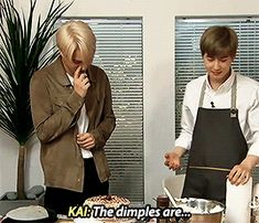 Kai mentioning Lay's Dimples. Suho's reaction XD - EXO