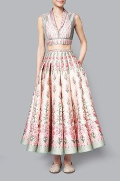 Designer Skirts - Buy Varnika Crop Top and Skirt for Women Online - - Anita Dongre Indian Wedding Outfits, Bridal Outfits, Indian Outfits, Bollywood Outfits, Sleeves Designs For Dresses, Frock Fashion, Stylish Blouse Design, Lehnga Dress, Dress Indian Style