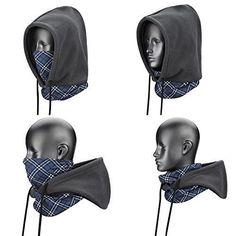 Weanas 4 in 1 Face Cover Hood Mask Balaclava Hat Hood Veil Thermal Warm