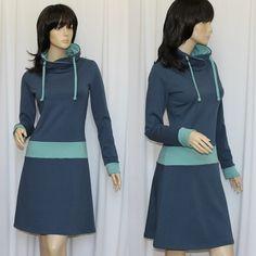 Knielange Kleider - Sweatkleid Kuschelkleid Gina - viele Farben - ein Designerstück von ungiko bei DaWanda