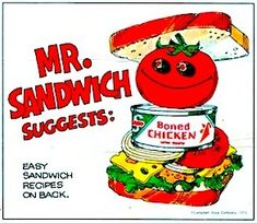 6 Sandwich recipes using Swanson canned chicken Sandwiches Baked Summer Squash, Baked Squash, Squash Bake, Chicken Sandwich Recipes, Fried Chicken Sandwich, Sandwiches For Lunch, Wrap Sandwiches, Retro Recipes, Vintage Recipes