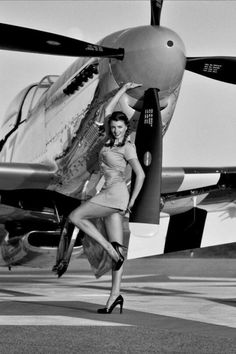 Vintage Aircraft Collection of Aviation Pin Up and Nose Art copyrights belong to their respective owners. Fighter Aircraft, Fighter Jets, Pin Up Girls, Fly Girls, Photo Avion, Up Auto, P51 Mustang, Mustang Girl, Ww2 Planes