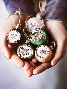 geode ball ornaments - click through to see more budget gifts at Storybook Apothecary