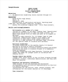 Graduate School Admissions Resume Sample Http Www