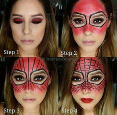 DIY Halloween Costumes - The Spider Makeup