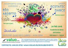 Ecstatic dance en Valencia junto sesion de Rio Abierto www.valuo.eu/3colab