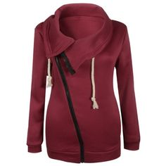 15.4$  Buy here - http://di6zw.justgood.pw/go.php?t=197744409 - Inclined Zipper Pockets Sweatshirt 15.4$