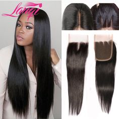 Peruvian Virgin Hair Straight Lace Closures 3 Free Middle Part Closure Lace Closure Bleached Knots 4x4 Human Hair Closure Piece *** Be sure to check out this awesome product.