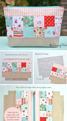 Rate this post Patchwork Zipper Pouch Tutorial Patchwork Zipper Pouch Tutorial. How to sew for beginners. Step by step illustration tutorial.Case for Glasses Pattern ~ Free-Tutorial. Step by step illustration tutorial. Sunglasses case, Glasses case a Patchwork Tutorial, Zipper Pouch Tutorial, Pencil Case Tutorial, Diy Pencil Case, Sewing Pencil Cases, Diy Zipper Pouches, Zipper Bags, Diy Bag With Zipper, Diy Pouch Bag