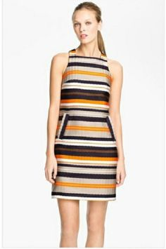 Trina Turk 'Spiegler' Woven Shift Dress available at Nordstrom.even nicer in person! Cute Dresses, Dresses For Work, Shift Dresses, Orange Clutches, Trina Turk, Nordstrom Dresses, Fashion Dresses, Feminine, South Beach