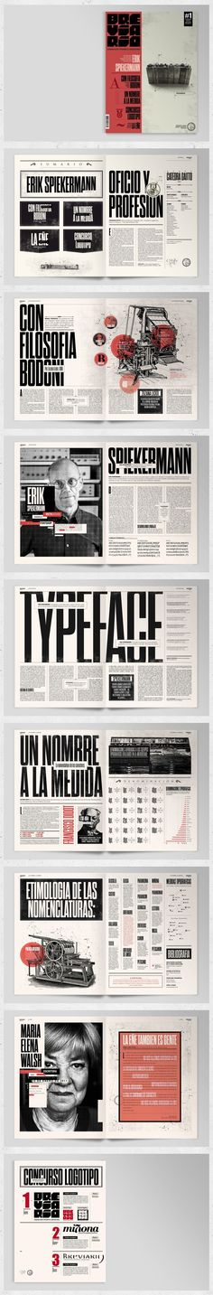 Breviario Magazine - Editorial Design by Boris Vargas Vasquez via Behance - Graphic Design Layout