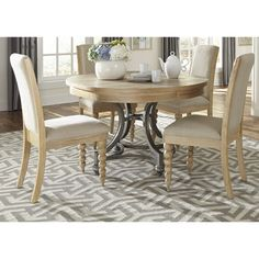 Cottage Harbor Sand Round Dinette Table