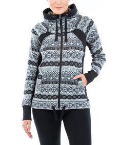 Look at this Black Nordic Willow Hoodie on #zulily today!