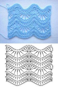 Crochet stitches 406309197629933652 - Crochet Top Pattern Source by mariedelaniche Zig Zag Crochet, Crochet Ripple, Rainbow Crochet, Baby Afghan Crochet, Crochet Top, Crochet Motif Patterns, Crochet Diagram, Crochet Chart, Knitting Patterns