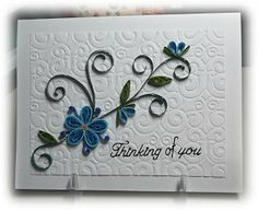 Thinking of You card - embossed background
