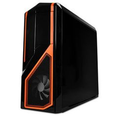 Boîtier PC NZXT Phantom 410 Special Edition (noir/orange) - Edition USB 3.0 Boîtier Moyen Tour pour gamer
