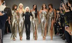 In memory of Gianni, Donatella Versace reunited with the original '90s supermodels for a special 20th anniversary showcase at Milan Fashion Week SS18.