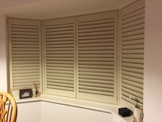 View a range of full height window shutters from Shuttersouth, Hampshire's leading shutter design and installation experts. Custom made full height shutters Bay Window Shutters, Bay Windows, Shutter Designs, Shutter Blinds, Orange Interior, Hampshire, Curtains, Southampton, Interior Design