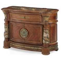 The AICO Villa Valencia Bachelor's Chest by Michael Amini from Carolina Rustica will make the perfect addition to any home. Part of Art & Home's extraordinary accent furniture collection. Shabby Chic Lamps, Shabby Chic Furniture, Vintage Furniture, Furniture Ideas, Furniture Design, Villa Valencia, Bachelors Chest, D 40, Thing 1