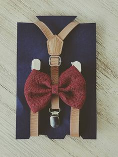 Ring Bearer Outfit Wine Little Boy Suspenders Rustic Wedding