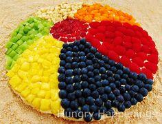 Beach ball fruit pizza