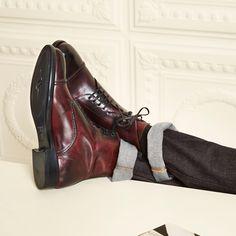 Harrys of London | Guy Satin Calf Burgundy