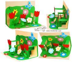 Детское творчество. Открытка к 8 марта