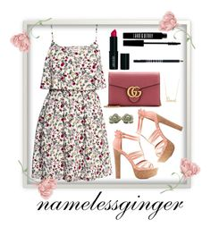 """untitled #499"" by namelessginger ❤ liked on Polyvore featuring H&M, Charlotte Russe, Gucci, Lord & Berry and Sydney Evan"