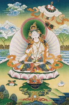 Beautiful White Tara Thangka ~ The thangka, or scroll painting, is a special art of Tibetan Buddhism.