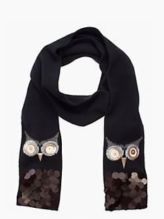 Kate Spade New York Night Owl Wool Scarf/Wrap off retail Love Fashion, Autumn Fashion, Owl Scarf, New York Night, Owl Always Love You, Night Owl, Diy Clothes, Scarf Wrap, Fashion Accessories