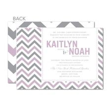 Patterned Bliss Purple Wedding Invitations