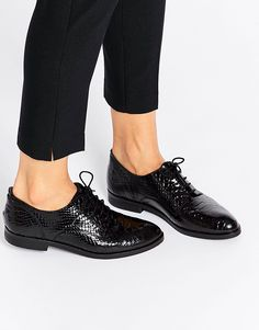 f82bffee21 Bronx Snake Effect Patent Leather Slip On Shoes