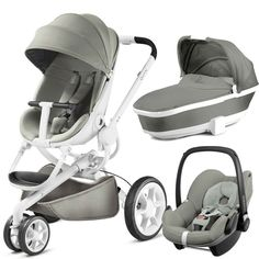 Quinny Moodd White Pebble Travel System Package (Grey Gravel)