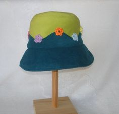 Hat for girls in green/petrol with cute by MermaidsHatbox on Etsy