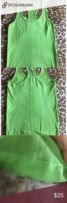 Lululemon swiftly racerback space lime green Never worn like green lululemon Razorback size 6 lululemon athletica Tops Tank Tops