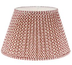 Charming patterned fabric lamp shades from carolina irving penny beautiful hand made gathered empire lampshade in red marden fermoie 016 aloadofball Choice Image