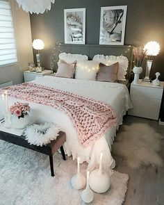 Cozy Home Decorating Ideas for Girls Bedroom - Bedroom Decor Ideas Girl Bedroom Designs, Room Ideas Bedroom, Home Decor Bedroom, Modern Bedroom, Contemporary Bedroom, Bedrooms Ideas For Small Rooms, Bedroom Decor Ideas For Teen Girls, Cute Teen Bedrooms, Bedroom Bed