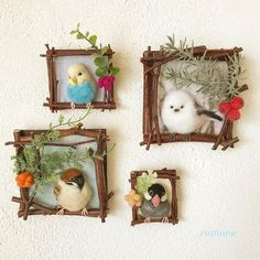 Thank you for looking at my product. These are my robin pebble art log slice decorations. They are created using – BuzzTMZ Needle Felted Animals, Felt Animals, Felt Crafts, Diy And Crafts, Twig Crafts, Felt Pictures, Needle Felting Tutorials, Felt Birds, Paper Birds