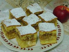 Rozi Erdélyi konyhája Apple Cake, Cornbread, Feta, French Toast, Dairy, Cheese, Baking, Breakfast, Ethnic Recipes