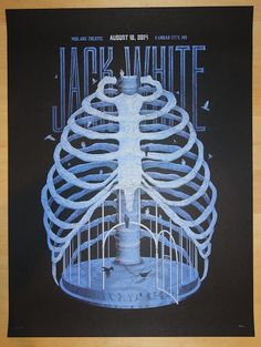Jack White - silkscreen concert poster (click image for more detail) Artist: DKNG Venue: Midland Theatre Location: Kansas City, MO Concert Date: 8/18/2014 Edition: 270; signed and numbered by the arti