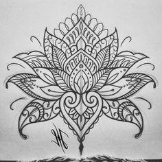 Mandala Tattoo Design, Lotus Mandala Design, Lotus Mandala Tattoo, Mandala Rose, Tattoos Mandala, Lotus Design, Tattoo Designs, Flower Tattoos, Geometric Tattoos