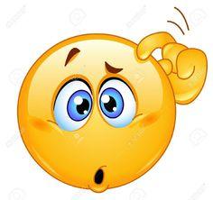 Confused emoticon (smiley, face, cartoon)